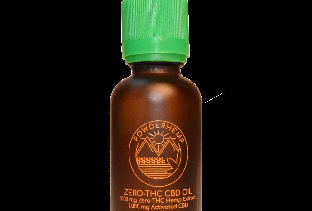 POWDERHEMP CBD Oil No THC – Orange