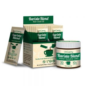 barista blend packets and 30 serving jar