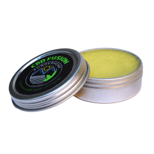 opened one ounce tin of Powderhemp Fusion Full Spectrum Hemp Extract Salve with 250 mg of CBD